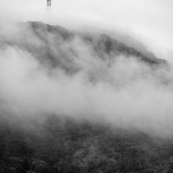 Mt. Scenery in de wolken