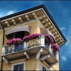 zonnig balcon