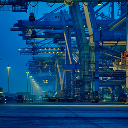 CONTAINER HARBOUR BY NIGHT