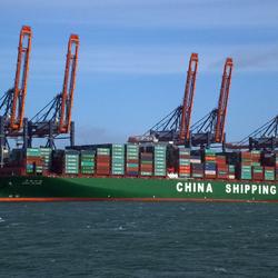 Grootste containerboot ter wereld