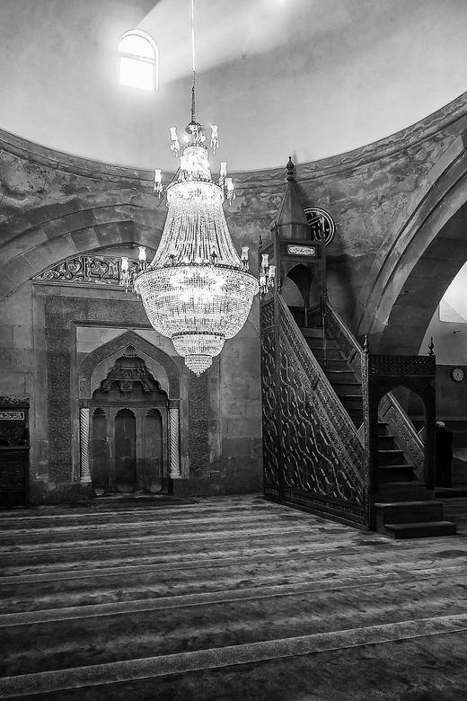 moskee_Kayseri - Interieur van een moskee in Kayseri, Turkije