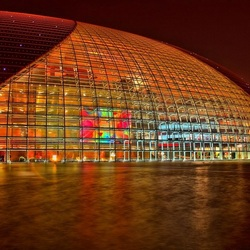 the Egg opera house in Beijing in HDR