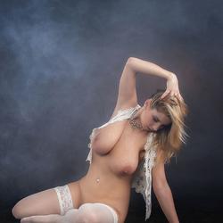 Katarina in white stockings