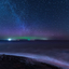 Noorderlicht boven Schiermonnikoog