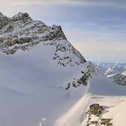 Jungfrau en de rest van de alpen
