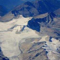 Gletsjer in de Alpen