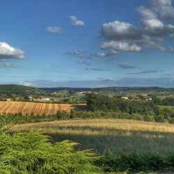 Uitzicht op de Limousin