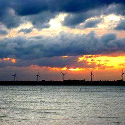 herinnering op de zonsondergang in Nederland