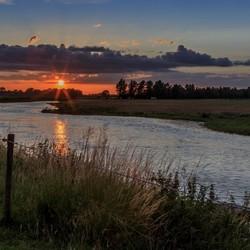 Zonsondergang op de Kromme Rijn
