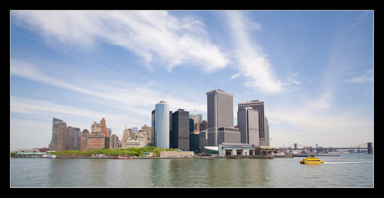 NY Skyline from the water -