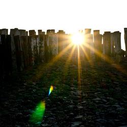 En de zon gaat onder...