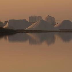 Zoutwinning roze meer Torrevieja