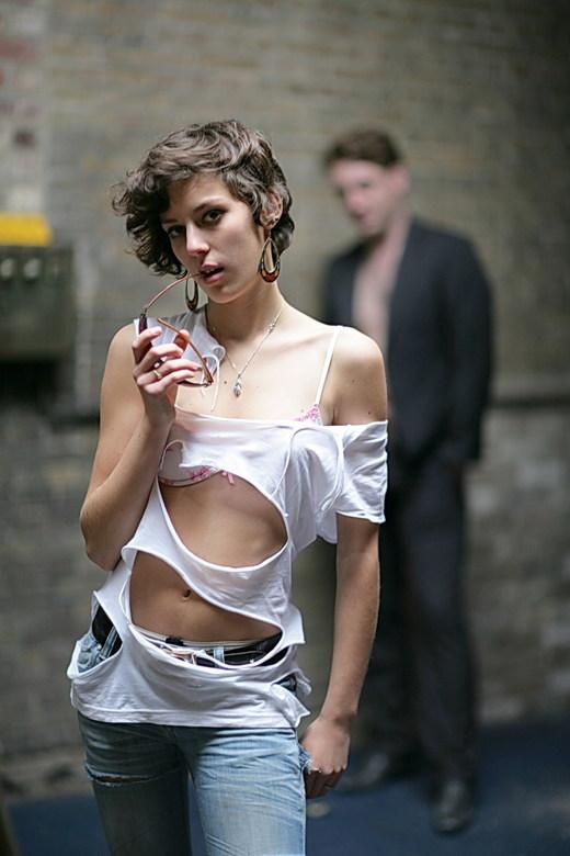 fashion shoot - in een oud fabriekspand te Kortrijk (één van de laatste) met Elisa en Dieter