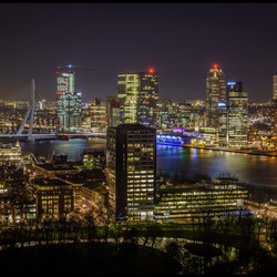 Rotterdam at night,........