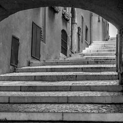 trap straatje in Italie