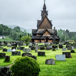 De staafkerk van Heddal