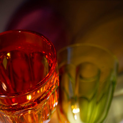 glas omgevallen