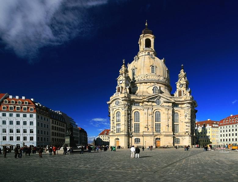 Frauenkerk - De Frauenkerk te Dresden. aan de Elbe.<br /> Met onze zilveren huwelijksdag  een paar dagen met de paasdagen  naar Dresden. <br /> Wat