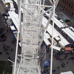 Uitzicht op de markt vanuit the view