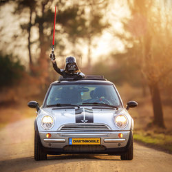 Darth Vader & the Darth Mobile