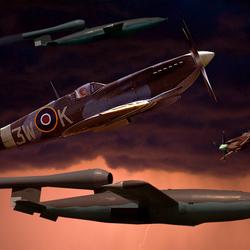 Spitfire of 322-Sqd