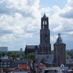 Domkerk en de Buurkerk in Utrecht