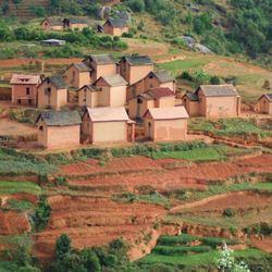Betsileo huizen in Madagascar