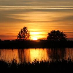 zonsondergang de Wiel Schagen