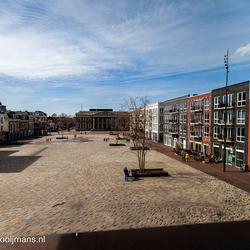 Uitzicht vanuit Fries museum Leeuwarden