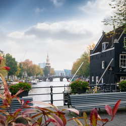 Blik over de Oudeschans, Amsterdam
