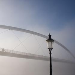 Misty bridge Maastricht