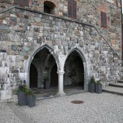 Binnenplaats kathedraal van Trondheim