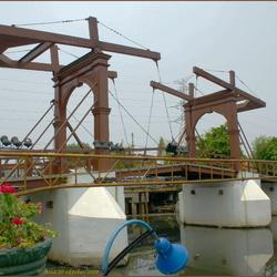 de oude ophaalbrug in Jakarta