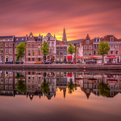 Sunset over Haarlem