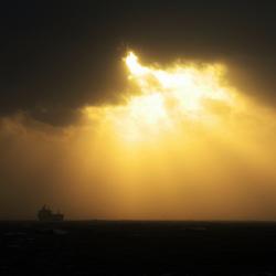 Schip op de Noordzee