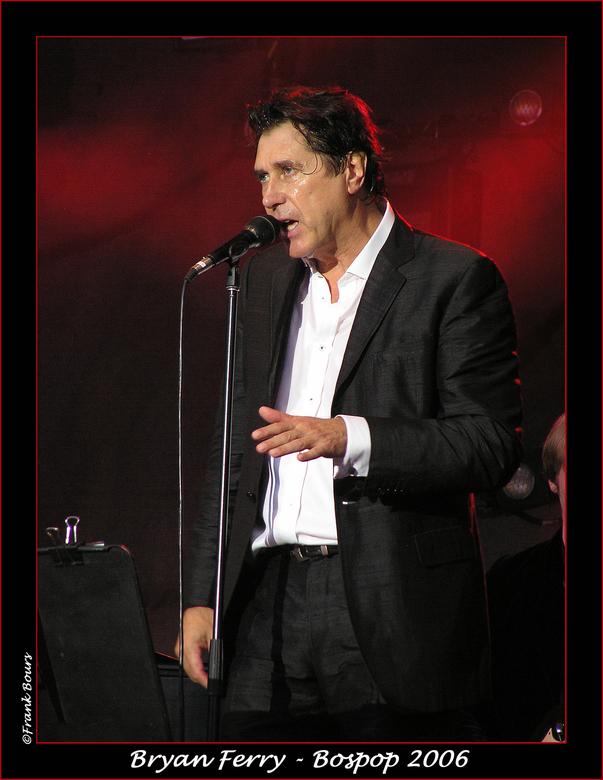 Bospop 16 - Bryan Ferry van de Engelse band Roxy Music gezien op Bospop 2006.<br /> foto: Frank