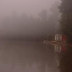 Stuga in the mist