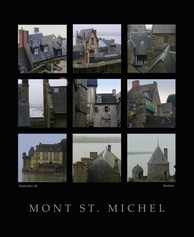Mont St. Michel - een compilatie van een paar foto&#039;s op de mont st. Michel.<br />