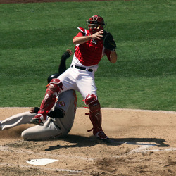 Baseball sliding - LA Angels