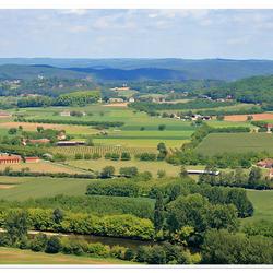 Vue sur la Dordogne.