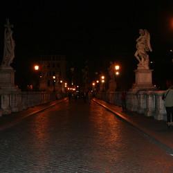 Brug over de Tiber.