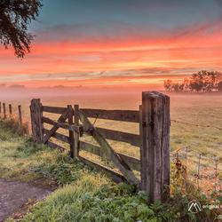 Kleurrijke zonsopkomst...