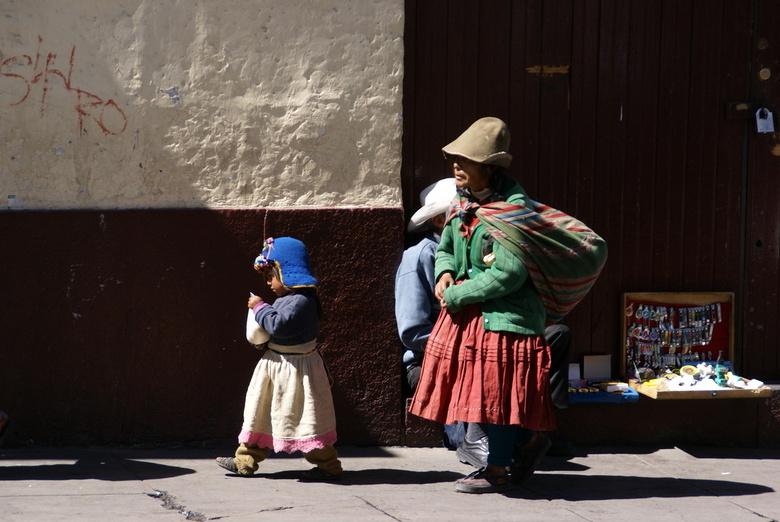 moeder en kind in Peru - moeder en kind in Peru