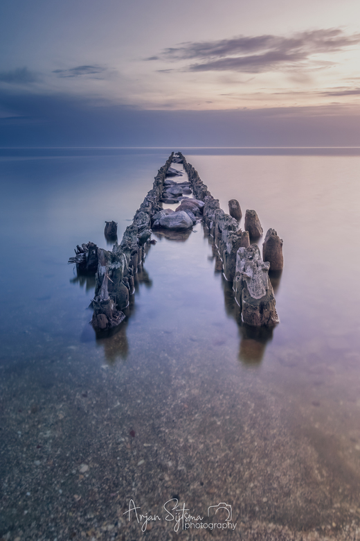 Een kalm IJsselmeer -