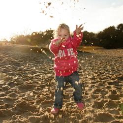 en het zand zat ook op me camera!!