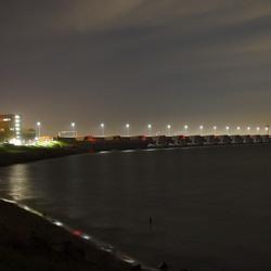 Deltawerken bij nacht
