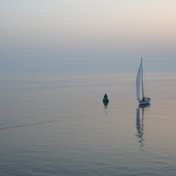Bootjes op de Waddenzee