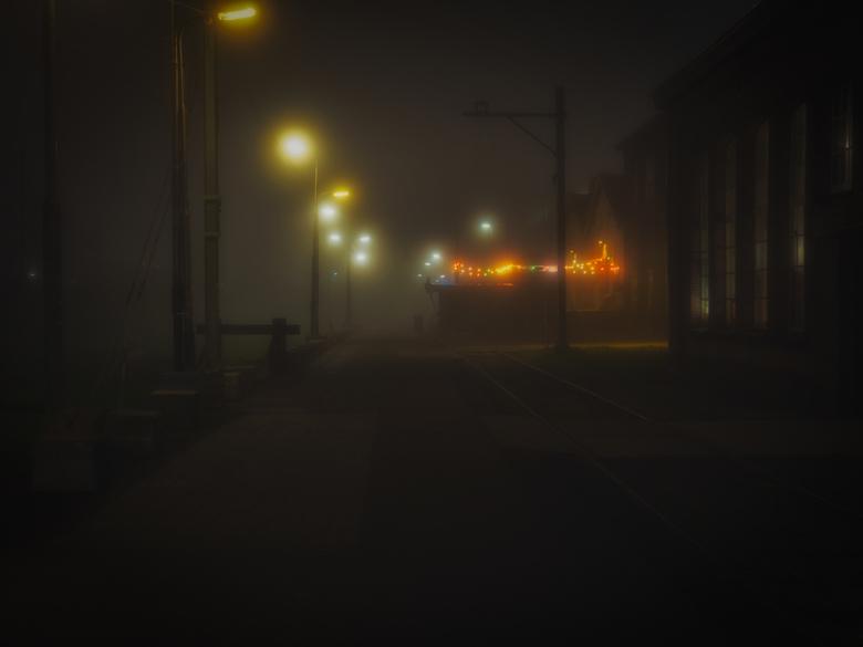 Mistige avond - Een mistige avond op de Tilburgse Spoorzone