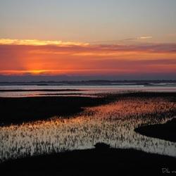 zonsondergang Slikken van Flakkee Melissant