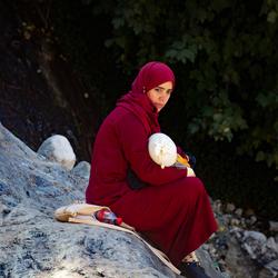 Moeder met kind in Ourika